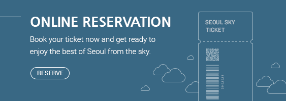 ONLINE RESERVATION Book your ticket now and get ready to enjoy the best of Seoul from the sky. Go Now