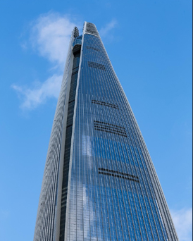 Lotte World Tower from below